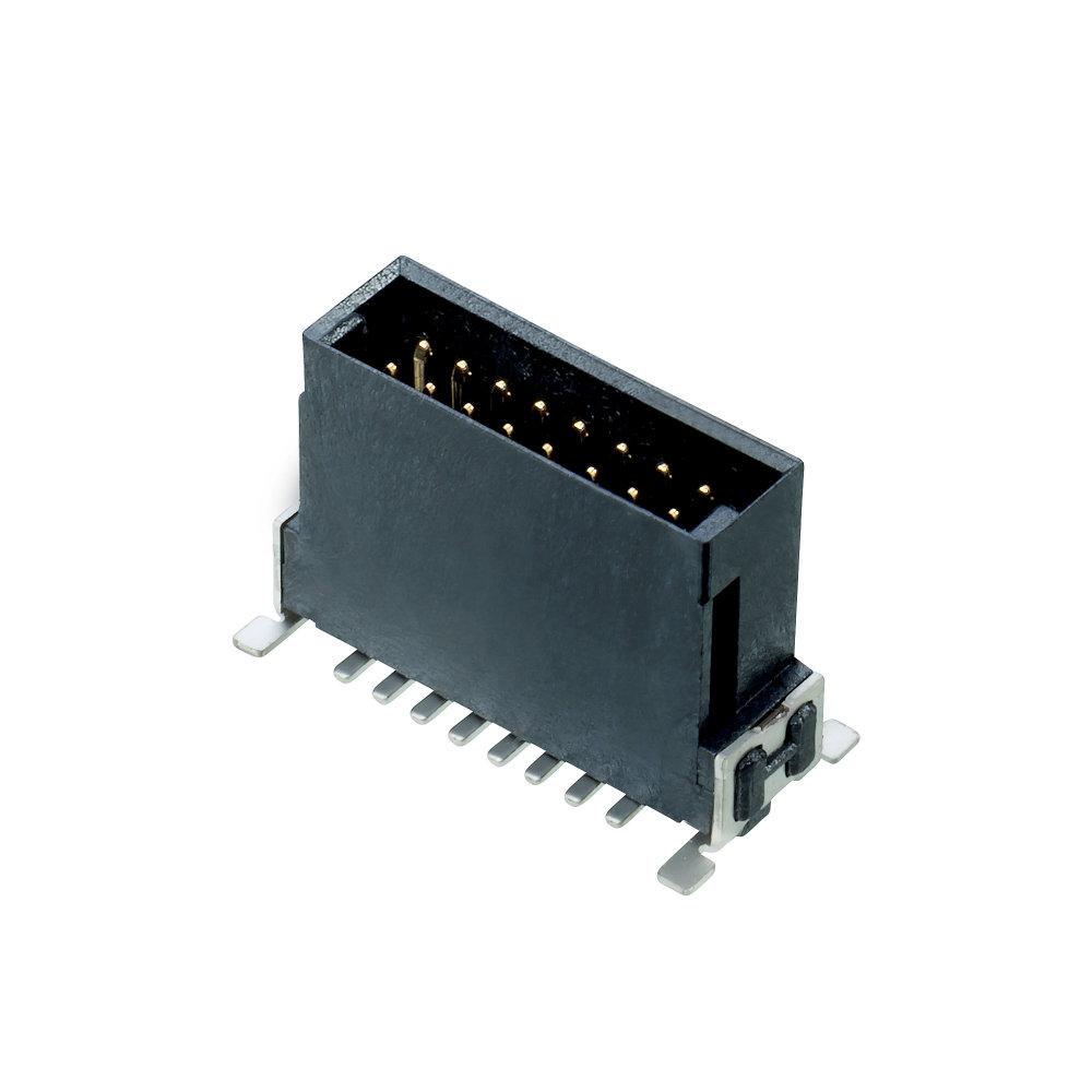 M55-7021642R - 8+8 Pos. Male DIL Vertical SMT Conn. (T+R)