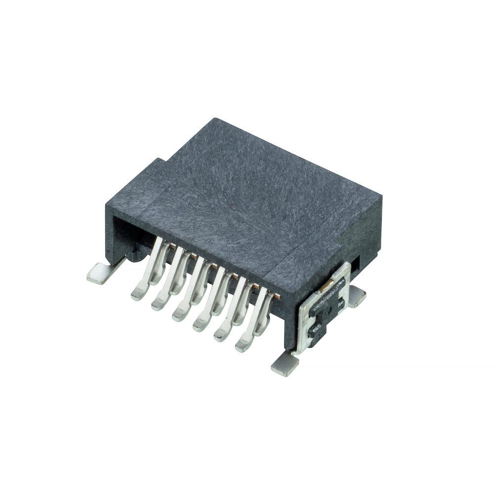 M55-7101242R - 6+6 Pos. Male DIL Horizontal SMT Conn. (T+R)