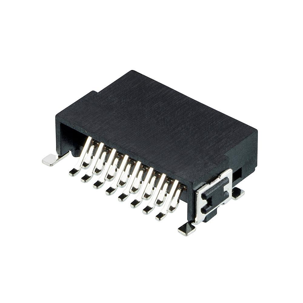 M55-7101642R - 8+8 Pos. Male DIL Horizontal SMT Conn. (T+R)