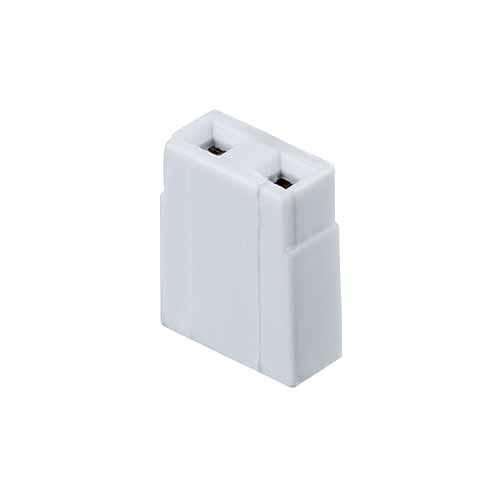 M7565-05 - 2 Pos. Female Jumper Socket, Open Shunt, Grey