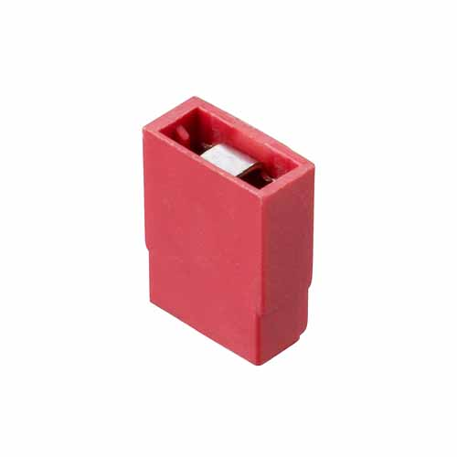 M7566-05 - 2 Pos. Female Jumper Socket, Open Shunt, Red