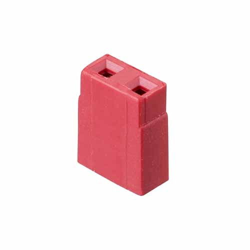 M7566-46 - 2 Pos. Female Jumper Socket, Open Shunt, Red