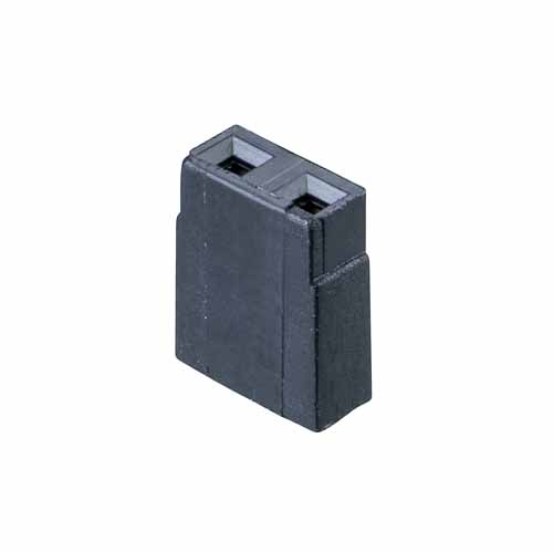 M7567-46 - 2 Pos. Female Jumper Socket, Open Shunt, Black