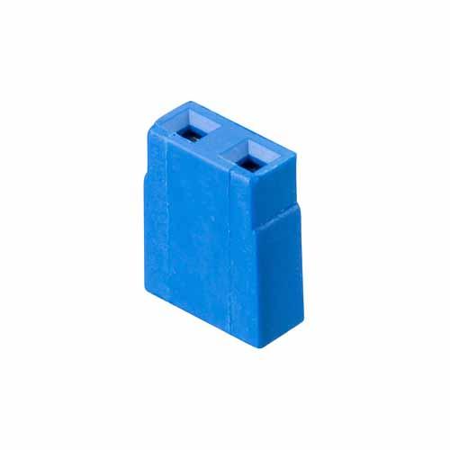 M7571-46 - 2 Pos. Female Jumper Socket, Open Shunt, Blue