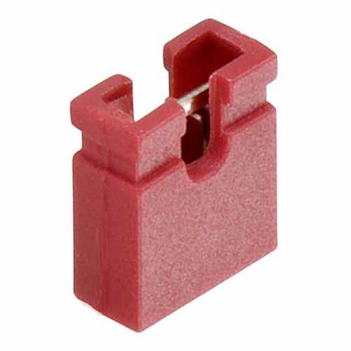 M7581-05 - 2 Pos. Female Jumper Socket, Open Shunt, Red