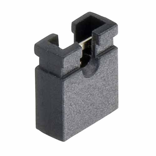 M7582-05 - 2 Pos. Female Jumper Socket, Open Shunt, Black