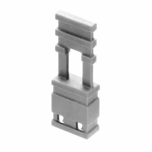 M7680-05 - 2 Pos. Female Jumper Socket, Handle Shunt, Grey