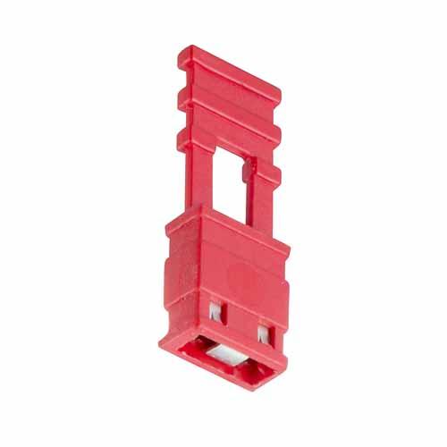 M7681-05 - 2 Pos. Female Jumper Socket, Handle Shunt, Red
