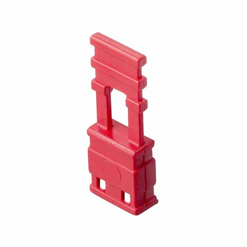 M7681-46 - 2 Pos. Female Jumper Socket, Handle Shunt, Red