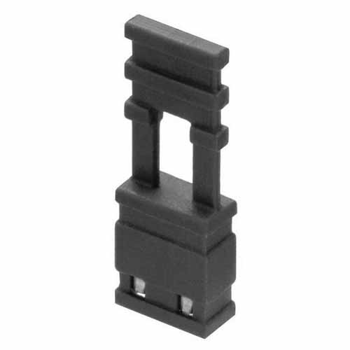 M7682-05 - 2 Pos. Female Jumper Socket, Handle Shunt, Black
