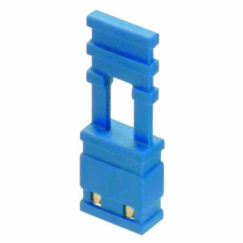 M7683-46 - 2 Pos. Female Jumper Socket, Handle Shunt, Blue