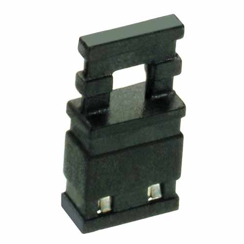 M7686-05 - 2 Pos. Female Jumper Socket, Handle Shunt, Black