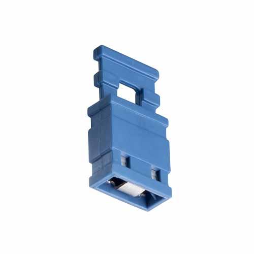 M7687-46 - 2 Pos. Female Jumper Socket, Handle Shunt, Blue