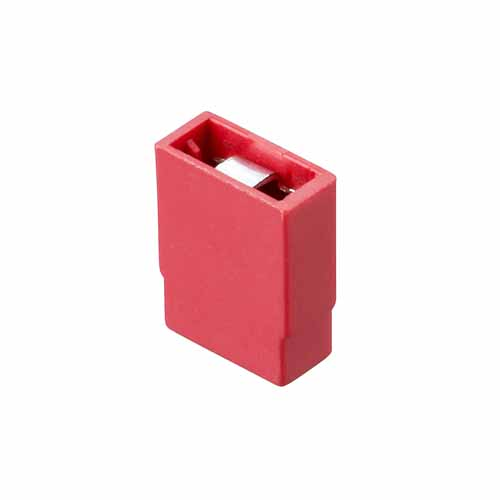 M7766-46 - 2 Pos. Female Jumper Socket, Closed Shunt, Red
