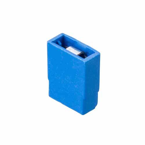 M7771-05 - 2 Pos. Female Jumper Socket, Closed Shunt, Blue