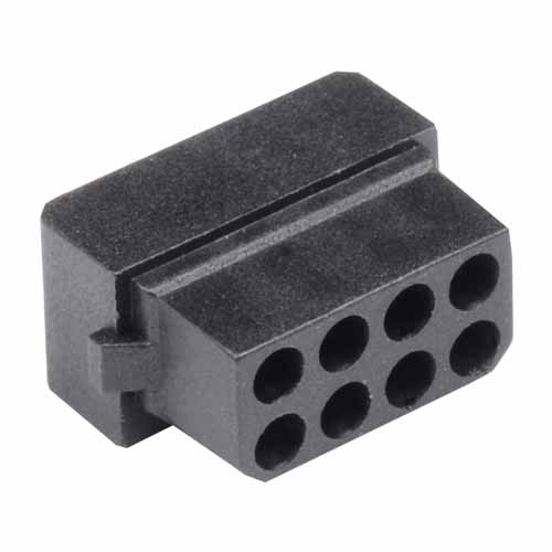 M80-1030898S - 4+4 Pos. Female DIL Cable Housing for Latches