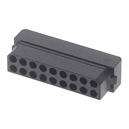 M80-1031898S - 9+9 Pos. Female DIL Cable Housing for Latches
