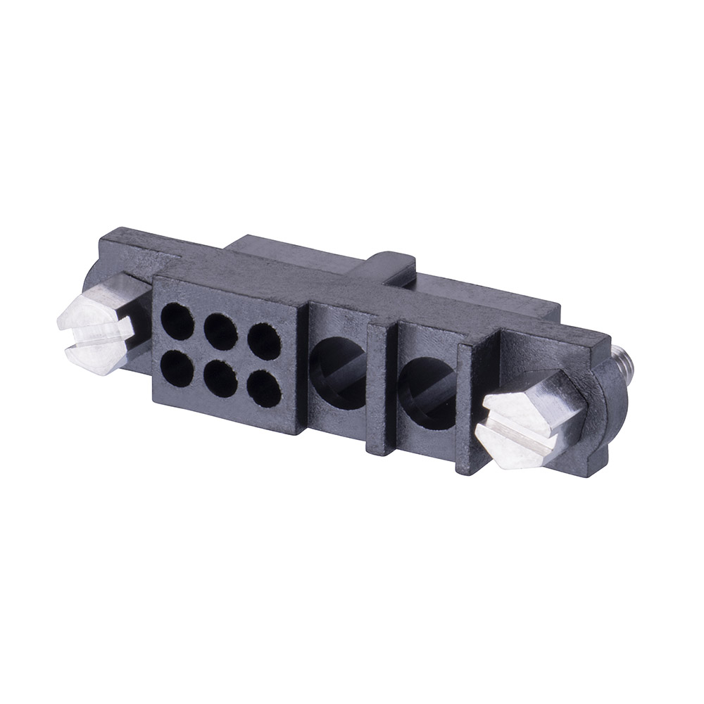 M80-263F102-06-00 - 6+2 Pos. Female Cable Housing, Jackscrews