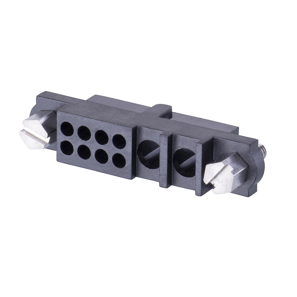 M80-263F102-08-00 - 8+2 Pos. Female Cable Housing, Jackscrews