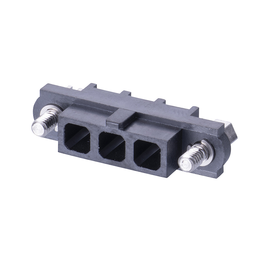 M80-263F103-00-00 - 3 Pos. Female SIL Cable Housing, Jackscrews