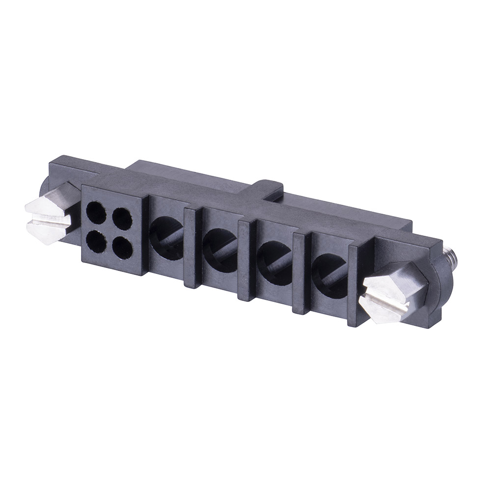 M80-263F104-04-00 - 4+4 Pos. Female Cable Housing, Jackscrews