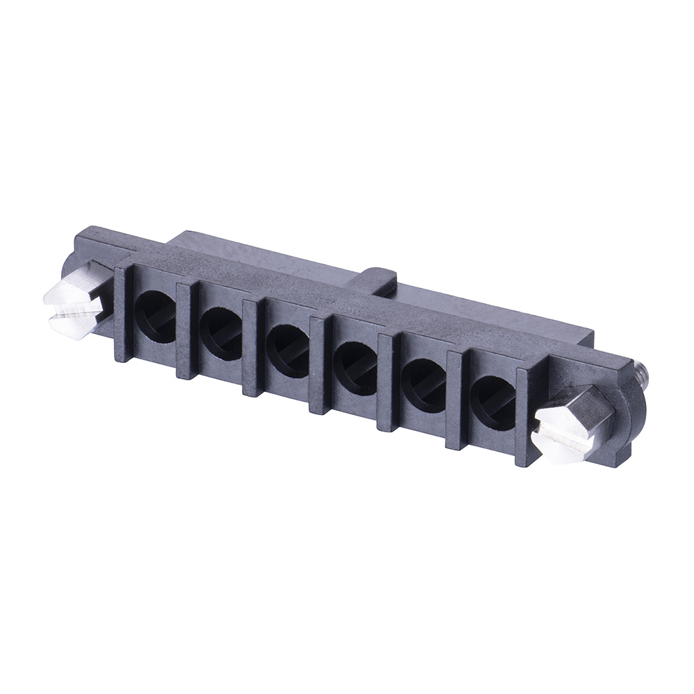 M80-263F106-00-00 - 6 Pos. Female SIL Cable Housing, Jackscrews