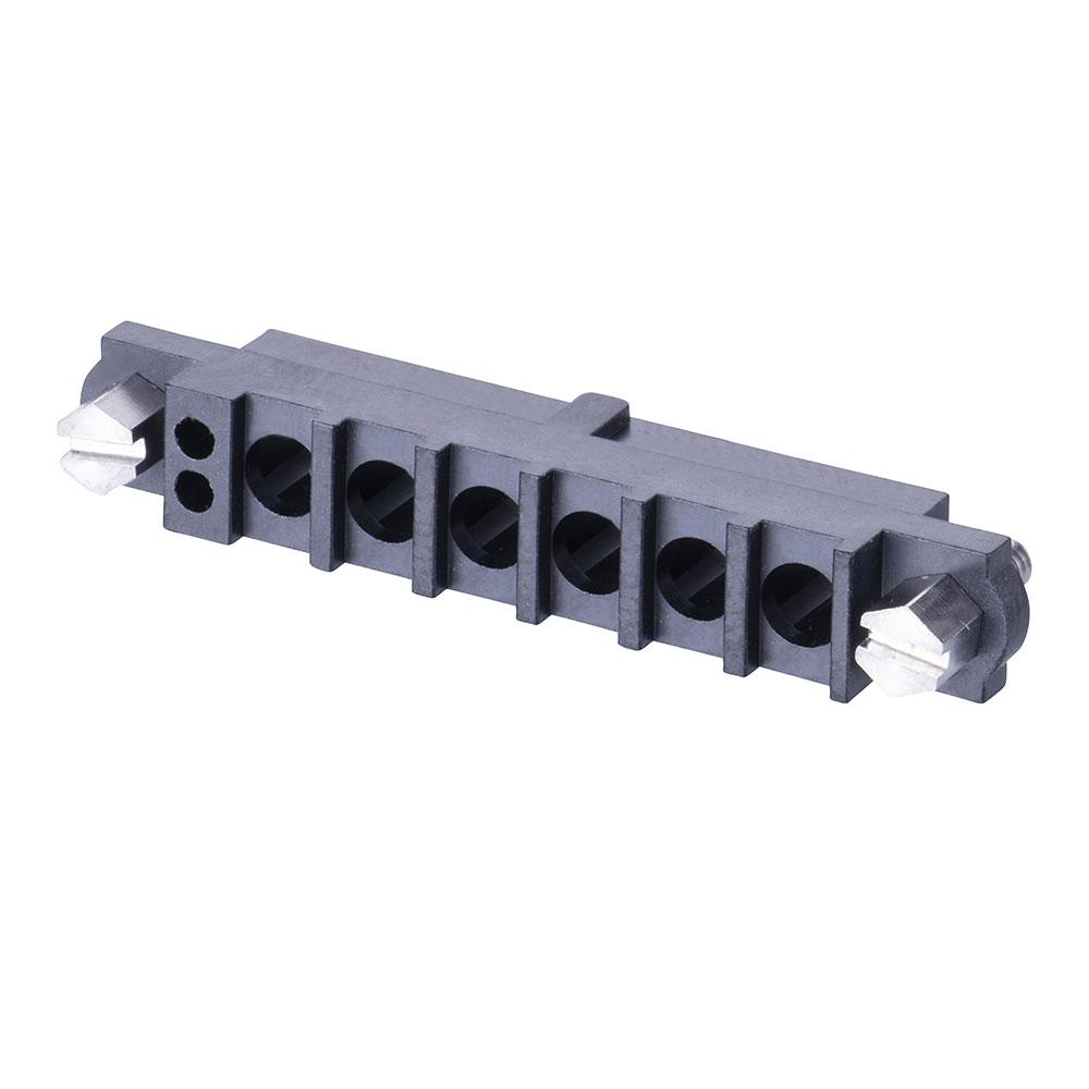 M80-263F106-02-00 - 2+6 Pos. Female Cable Housing, Jackscrews