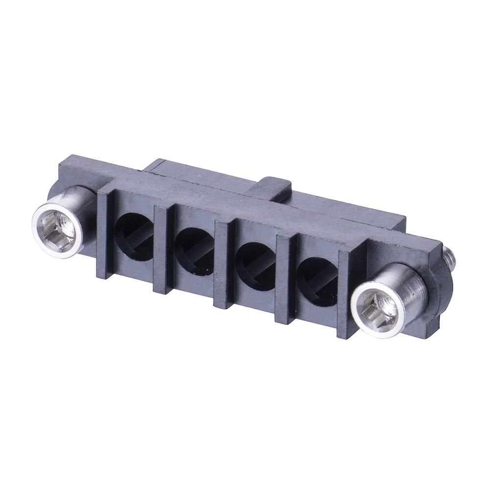 M80-263F204-00-00 - 4 Pos. Female SIL Cable Housing, Jackscrews