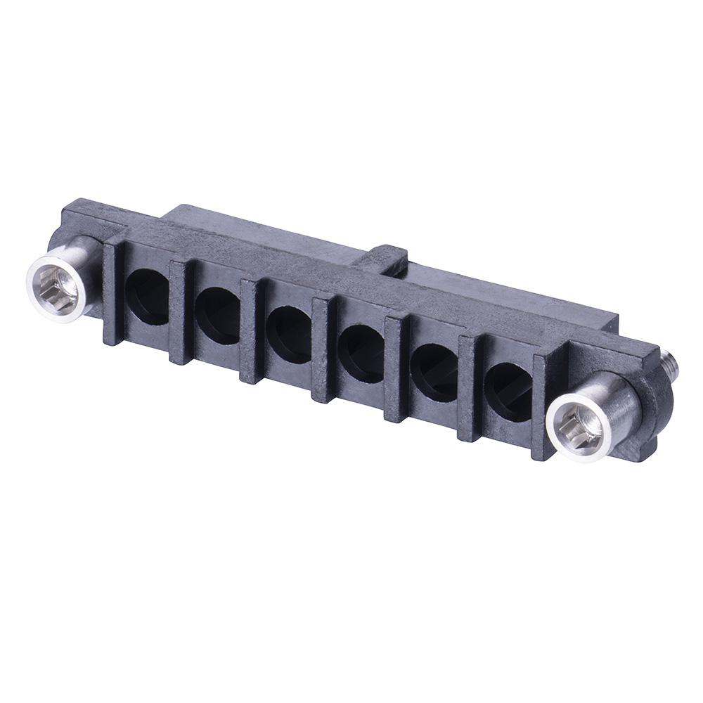 M80-263F206-00-00 - 6 Pos. Female SIL Cable Housing, Jackscrews