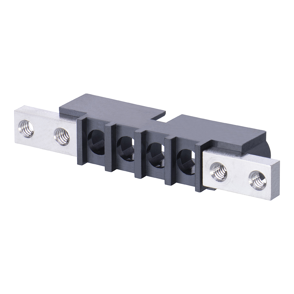 M80-273MU04-00-00 - 4 Pos. Male SIL Cable Housing, Panel Mount