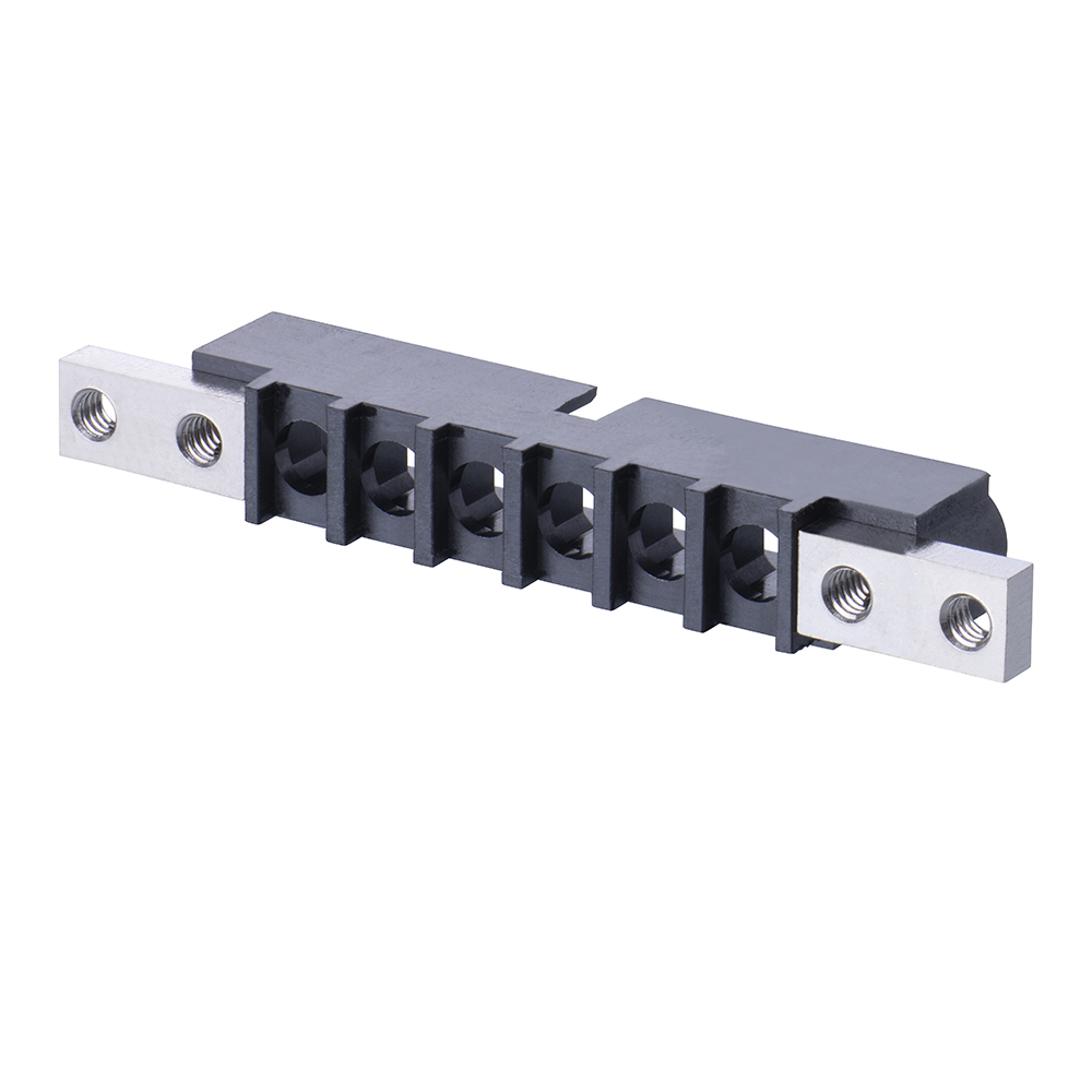 M80-273MU06-00-00 - 6 Pos. Male SIL Cable Housing, Panel Mount