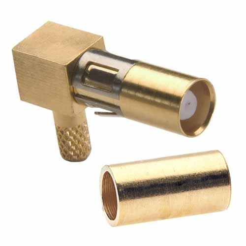 M80-309 - Female RG174-RG179-RG316 Right-Angled Coax Contact