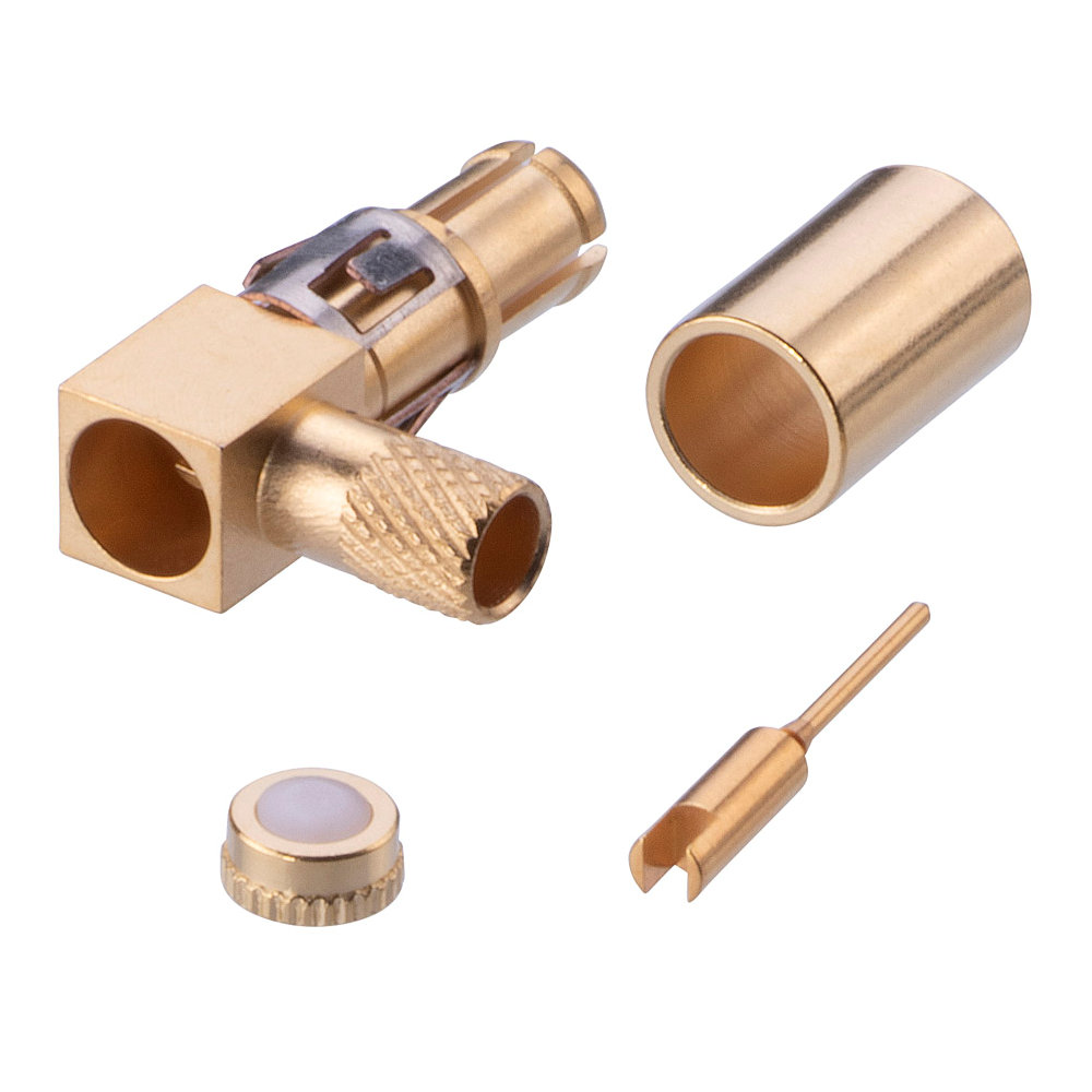 M80-319 - Male RG174-RG179-RG316 Right-Angled Coax Contact