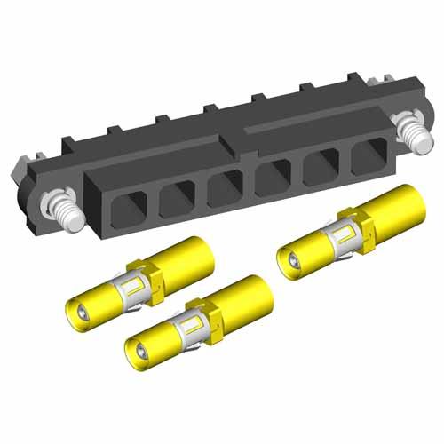 M80-4000000F1-03-307-03-000 - 6 Pos. Female SIL RG174/179/316 Cable Conn. Kit, Jackscrews