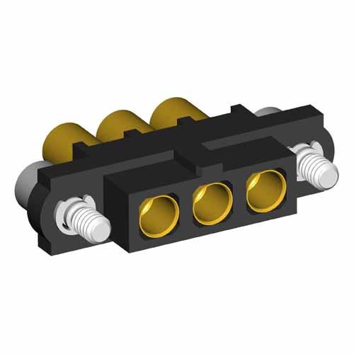 M80-4000000F2-03-325-00-000 - 3 Pos. Female SIL 12AWG Cable Conn. Kit, Jackscrews