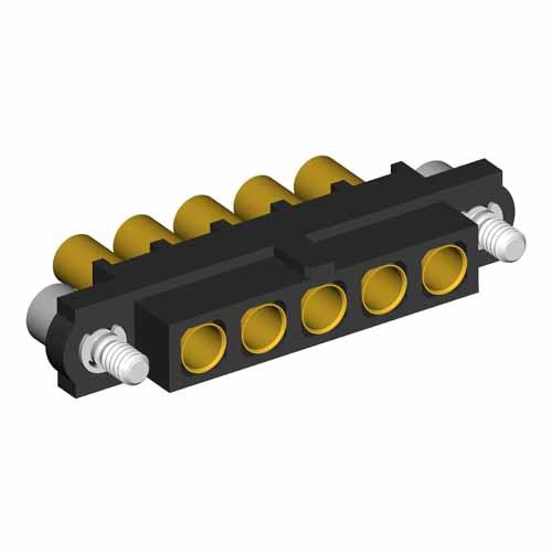 M80-4000000F2-05-327-00-000 - 5 Pos. Female SIL 16AWG Cable Conn. Kit, Jackscrews