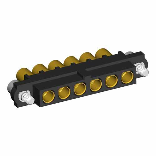 M80-4000000F2-06-326-00-000 - 6 Pos. Female SIL 14AWG Cable Conn. Kit, Jackscrews