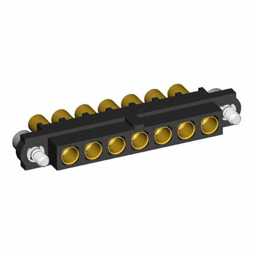 M80-4000000F2-07-326-00-000 - 7 Pos. Female SIL 14AWG Cable Conn. Kit, Jackscrews