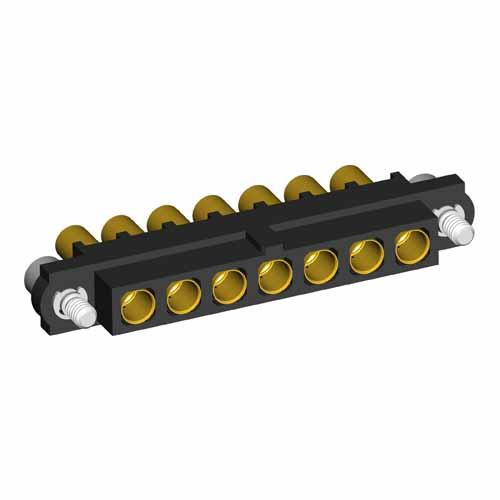 M80-4000000F2-07-327-00-000 - 7 Pos. Female SIL 16AWG Cable Conn. Kit, Jackscrews