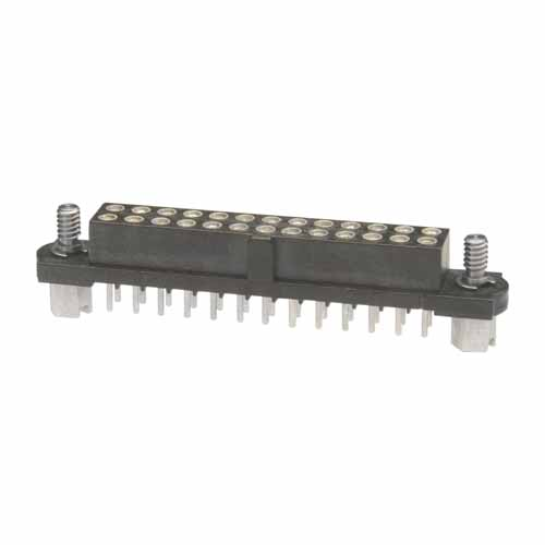 M80-4002642 - 13+13 Pos. Female DIL Vertical Throughboard Conn. Jackscrews