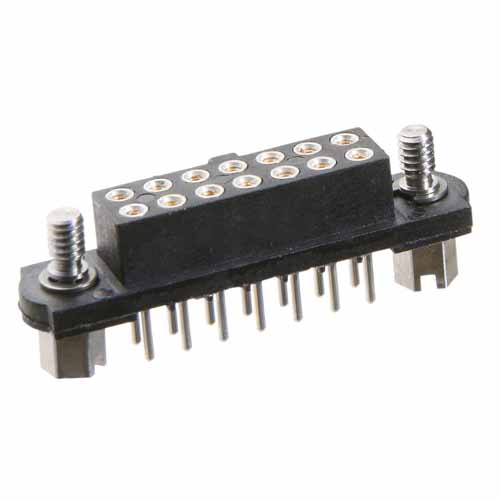 M80-4015001 - 25+25 Pos. Female DIL Vertical Throughboard Conn. Jackscrews