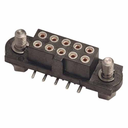 M80-4022442 - 12+12 Pos. Female DIL Vertical SMT Conn. Jackscrews