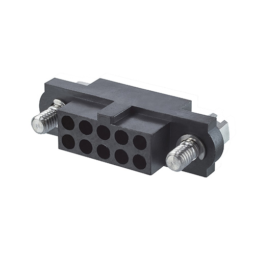 M80-4131298 - 6+6 Pos. Female DIL Cable Housing, Jackscrews
