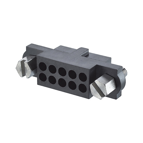 M80-4131098 - 5+5 Pos. Female DIL Cable Housing, Jackscrews