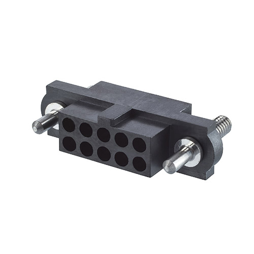 M80-4174498 - 22+22 Pos. Female DIL Cable Housing, Guide Pin