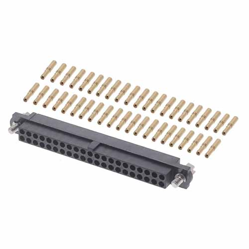 M80-4614205 - 21+21 Pos. Female DIL 24-28AWG Cable Conn. Kit, Jackscrews