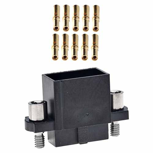 M80-4853442 - 17+17 Pos. Female DIL 22AWG Cable Conn. Kit, Extended Wall, Jackscrews