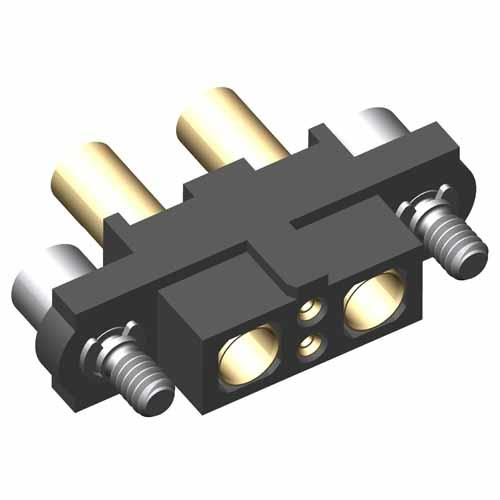 M80-4C10205F2-01-327-01-327 - 2+2 Pos. Female 24-28AWG+16AWG Cable Conn. Kit, Jackscrews
