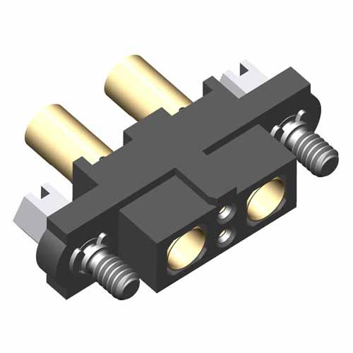 M80-4C10242F1-01-327-01-327 - 2+2 Pos. Female 24-28AWG+16AWG Cable Conn. Kit, Jackscrews