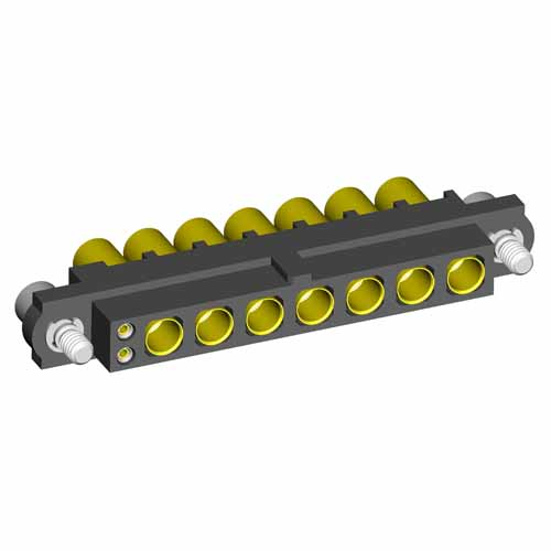 M80-4C10242F2-00-000-07-325 - 2+7 Pos. Female 24-28AWG+12AWG Cable Conn. Kit, Jackscrews